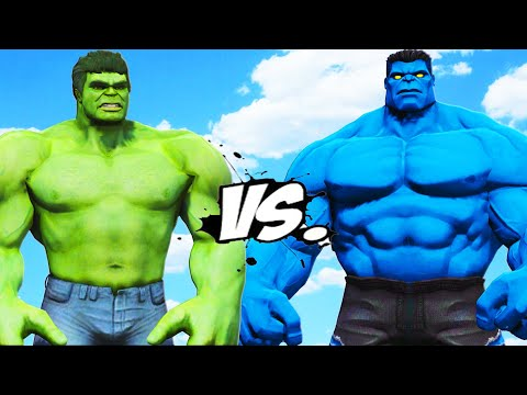 HULK VS BLUE HULK - EPIC BATTLE