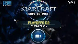 [PT-BR] Copa América de StarCraft II - Playoffs D2 Ordem dos jogos: - Início da transmissão: 00:01:40 - Ryu x Scam: 00:15:06...