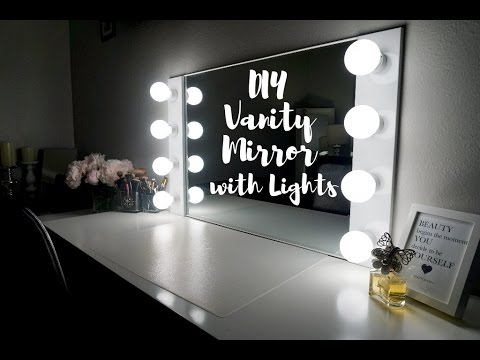 DIY VANITY MIRROR WITH LIGHTS  UNDER  100        SimplySandra. D I Y Light Up Make Up Vanity Tutorial Under  40    Do It Yourself