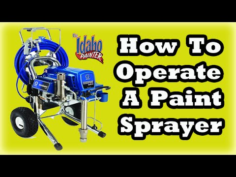 operating a graco 695 - How to operate a Graco 695 airless sprayer. Quick tips using the sprayer. B&K Painting offers high quality painting at affordable prices in Boise Idaho. 100%...