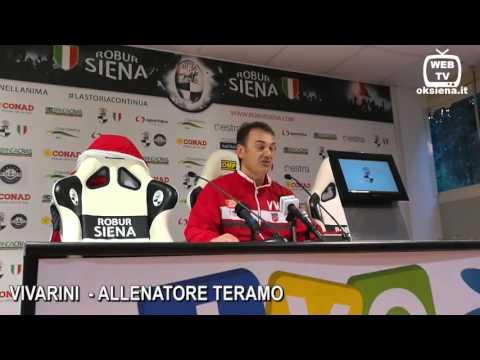 Robur Siena Teramo 3-3 - Intervista allenatore Vivarini allenatore Teramo