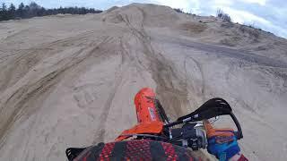 10. First Ride 2018 KTM XCF 250 (Go- Pro) Secret woods track!