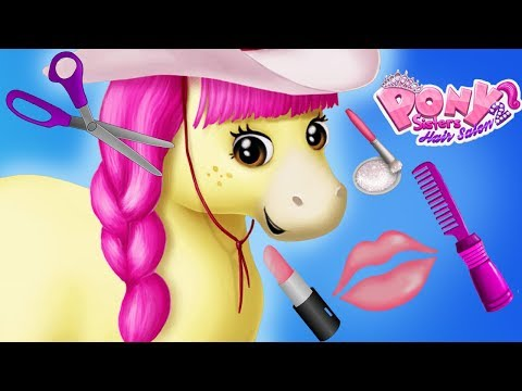Fun Animal Care Games - Horse Hair Salon Pony Dress Up Make Up Makeover App For Kids