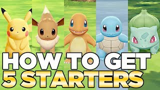 How to Get 5 Starters in Pokemon Let's Go Pikachu & Eevee | Austin John Plays HD CC