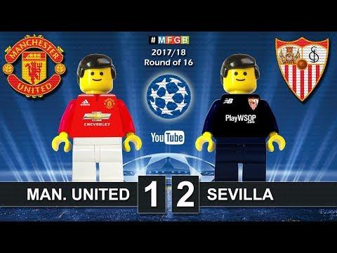 Manchester United vs Sevilla 1-2 • Champions League 2018 (13/03/2018) Goals Highlights Lego Football