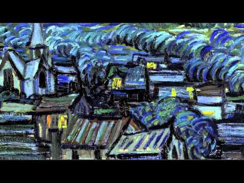 Beethoven in Moonlight Sonata for Starry night by Van Gogh - Video HD