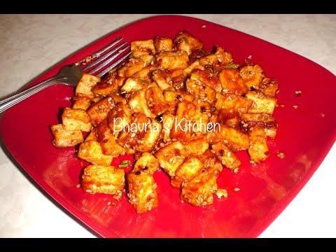 Tofu Stir Fry Video Recipe (Spicy Chilli Tofu) by Bhavna
