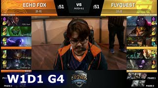 Video Echo Fox vs FlyQuest | Week 1 Day 1 of S8 NA LCS Spring 2018 | FOX vs FLY W1D1 G4 MP3, 3GP, MP4, WEBM, AVI, FLV Juni 2018