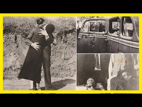 Final hours of gangsters bonnie and clyde revealed in kissing picture