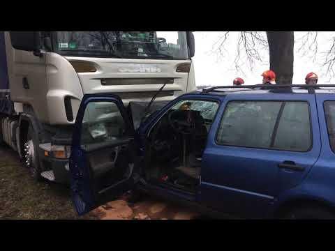 Wideo1: Wypadek na trasie Krzyżowiec - Zbarzewo