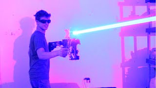 My Homemade 40W LASER SHOTGUN!!!!! -