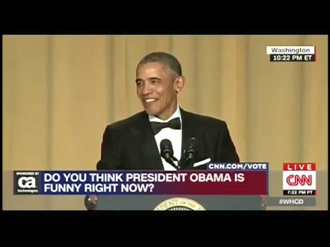 Obama rips on Hillary at White House Correspondents Dinner