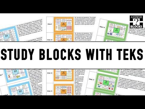 Study Blocks with TEKS