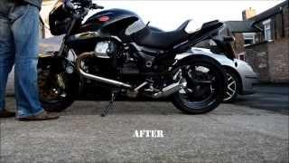 4. Frank's MANRELI Exhaust - Moto Guzzi 1200 Sport 4V - UK