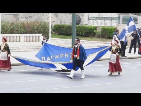 Μαθητική παρέλαση στην Αθήνα για τον εορτασμό της 25ης Μαρτίου