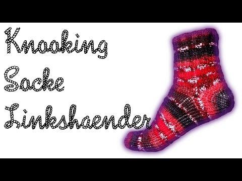 """""""Wooly Tricks"""" Socken Knooking Anleitung / Strickanleitung Linkshänder"""