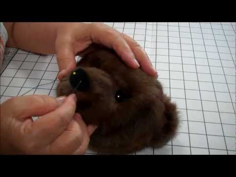 Part 12 How To Make A Jointed Fur Teddy Bear - The Nose