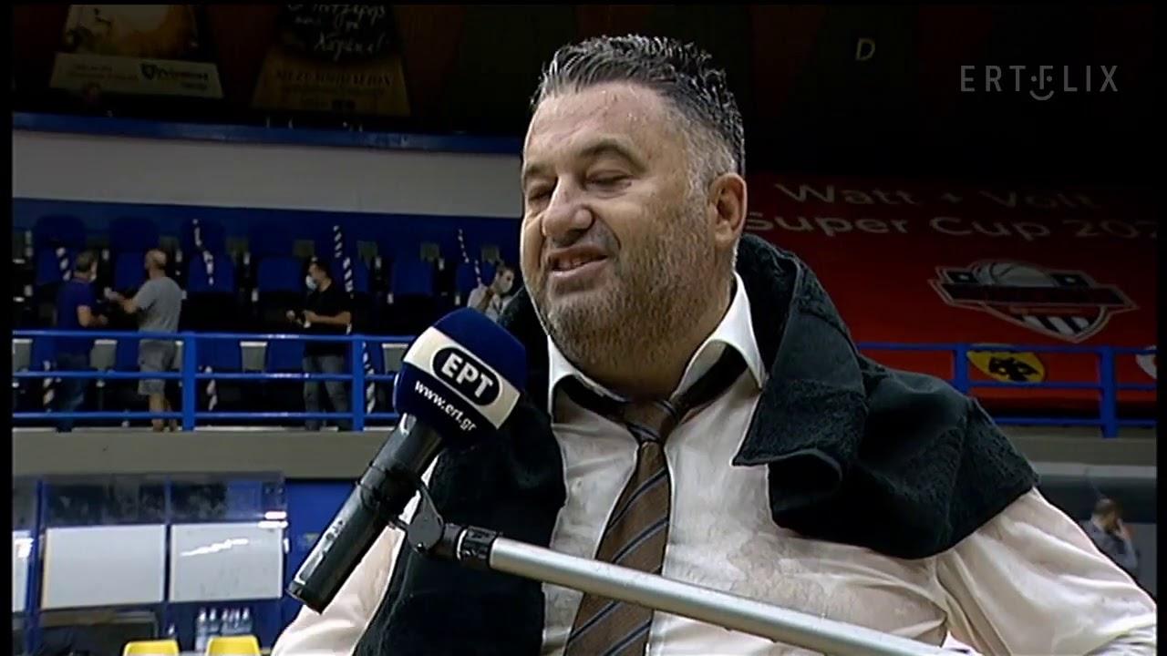 Οι δηλώσεις του Μάκη Γιατρά μετά την κατάκτηση του Super Cup από τον Προμηθέα   24/09/2020   EΡΤ