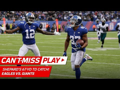 Video: Sterling Shepard Snags the Quick Toss & Goes 67 Yards for TD! | Can't-Miss Play | NFL Wk 15