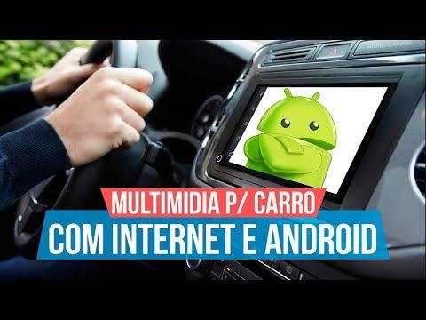 Multimidia com ANDROID E INTERNET no carro - WhatsApp, Youtube, UBER e mais  | MUITO BARATA!