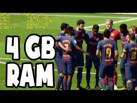 FIFA 18 On 4GB RAM | Gameplay Tested