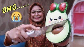 SQUISHY DARES! POTONG SQUISHY PAKAI PISAU :( - Ria Ricis