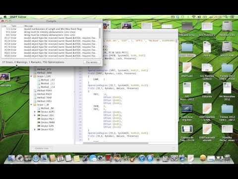 Como extrair sua DSDT no pelo DSDT Editor no MAC OS (видео)