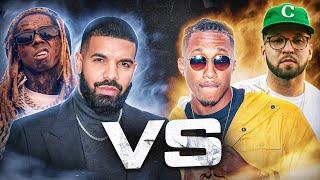 Drake and lil Wayne vs Lecrae and Andy Mineo (@drake @LilTunechi @lecrae @andymineo @trackstarz)