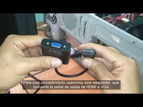 Como conectar  salida HDMI a monitor VGA