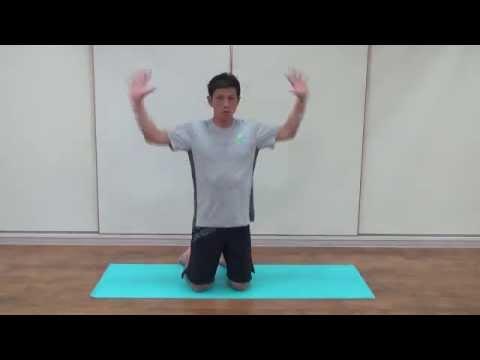 肩甲骨を意識しながら身体の後ろ側を強化!ゆりかご運動