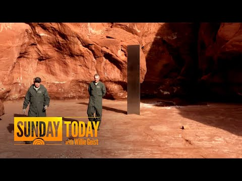 10-Foot Mysterious Monolith Vanishes From Desert In Utah   Sunday TODAY