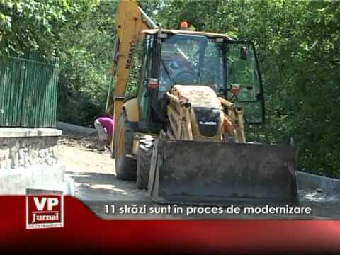 11 străzi sunt în proces de modernizare