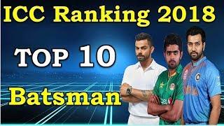 Video ICC rankings 2018 latest   Top 10 ODI Batsman with ICC Ranking list 2018   MD1 Production MP3, 3GP, MP4, WEBM, AVI, FLV Agustus 2018