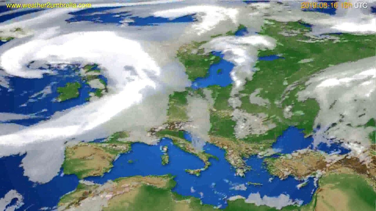 Cloud forecast Europe // modelrun: 00h UTC 2019-08-14