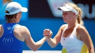 Tennis Highlights, Video - Svetlana Kuznetsova vs Caroline Wozniacki Australian Open 2013 Highlights