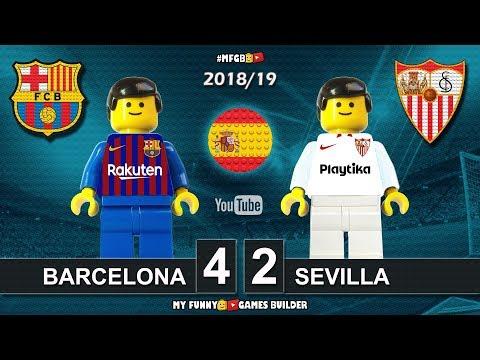 Barcelona vs Sevilla 4-2 • LaLiga 2019 (20/10/2018) All Goals Highlights Barça Lego Football