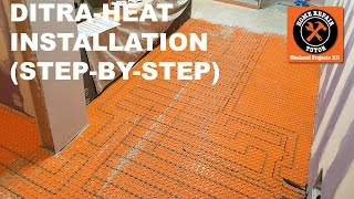 How do you install DITRA-HEAT heated flooring systems? We explain in today's step-by-step tutorial. https://www.homerepairtutor.com/ditra-heat-heated-flooring-systems/Here is the break down of the steps for the DITRA-HEAT installation:Step 1 = Planning DITRA-HEAT heated flooring systemsStep 2 = Gathering materialsStep 3 = Setting DITRA-HEAT membraneStep 4 = Heating cable tips before installationStep 5 = Conductor resistance testStep 6 = Conductor and ground braid continuity testStep 7 = Insulation resistance testStep 8 = Floor temperature sensor testStep 9 = Heating cable cold splice installation Step 10 - Heating cable installation in membraneStep 11 - Thermostat sensor installation Step 12 - DITRA-HEAT thermostat installationStep 13 - Fill studs with unmodified thin-setWatch our video for the full DITRA-HEAT installation https://youtu.be/iWhI05TYSh4Or visit our website for the written tutorial https://www.homerepairtutor.com/ditra-heat-heated-flooring-systems