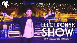 DJ NYK Live at Hindu College (Delhi University) | Electronyk Show | Audio Visual Spectacle | 2017