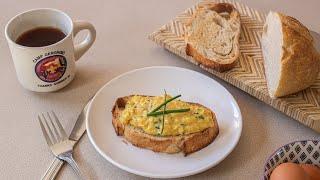 How to Make Scrambled Egg Toast