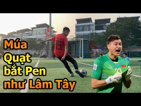 Thử Thách Bóng Đá bắt Penalty như Đặng Văn Lâm ĐT Việt Nam với kiểu múa quạt Khá Bảnh Asian Cup 2019 - Thời lượng: 10 phút.