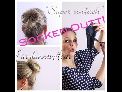 DIY SockenDUTT!!! – DIESE Socke funktioniert! Auch für dünnes Haar