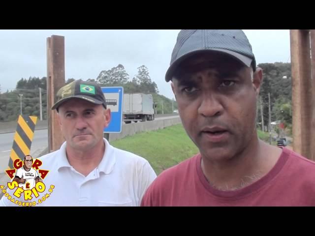 Vereador Nilson e Zezinho do Jardim das Palmeiras constroi Ponto de Ônibus no 67