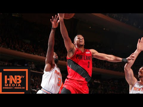 New York Knicks vs Portland Trail Blazers Full Game Highlights   11.20.2018, NBA Season