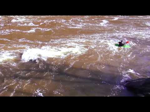 Extreme Kayaking HD Kenduskeag River, Bangor Maine, No Music, Only Nature.