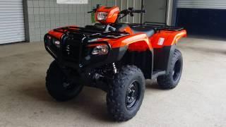 7. 2016 Honda FourTrax Foreman ES 500 ATV - Orange / VIDEO WALK AROUND : TRX500FE1G
