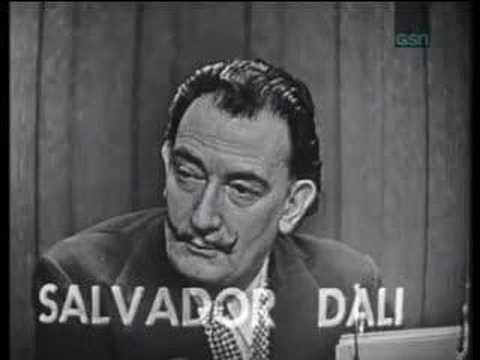 What's my line - Salvador Dali