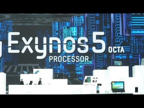 exynos - Samsung Exynos 5410 Benchmark http://www.mobilegeeks.com ARM showed a reference design from Samsung which had their Exynos Octa-Core processor. This new proc...