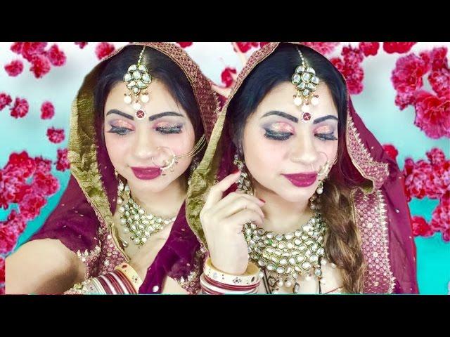 Punjabi Bridal Makeup Tutorial By Dimple ...