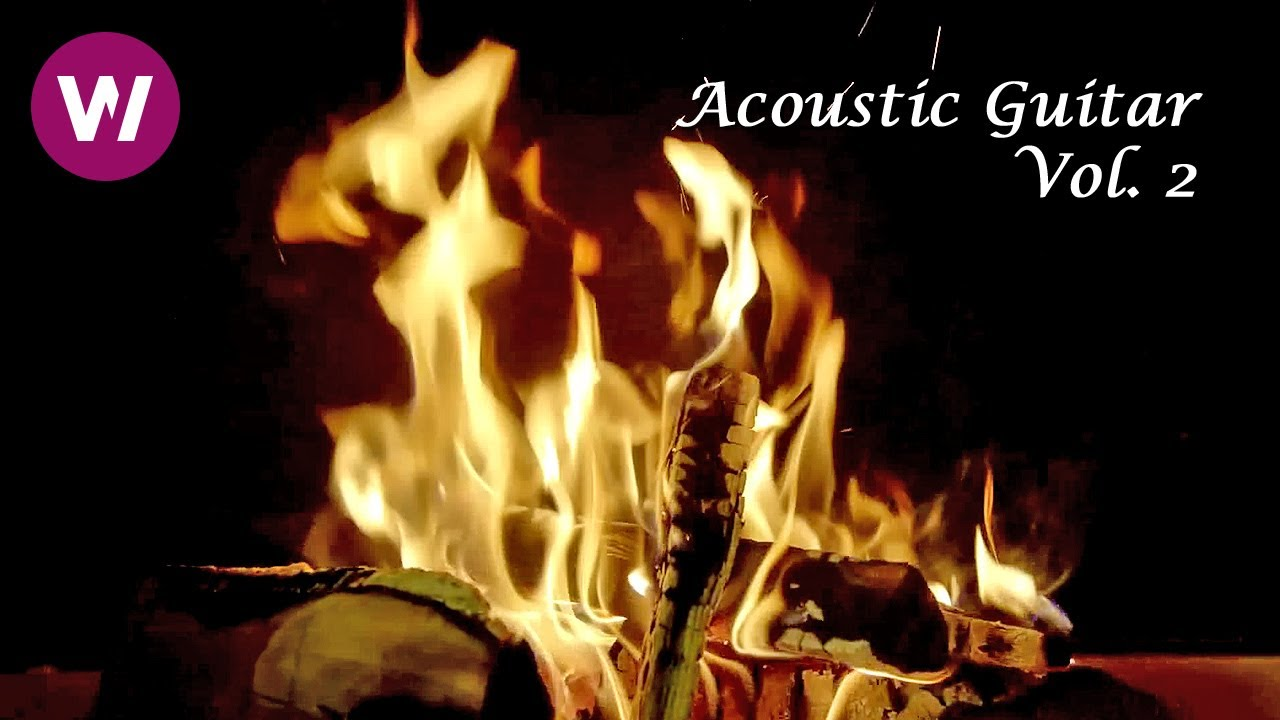 Relaxing Fireplace with Acoustic Guitar | wocomoAMBIENT