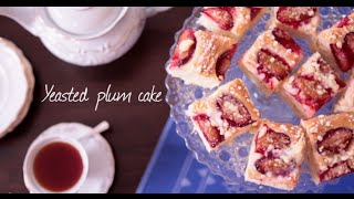 Yeasted plum cake video